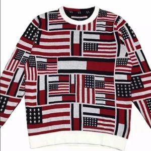 Tommy Hilfiger American Flag Crewneck Men Sweater